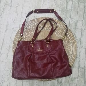 Coach Ashley Patent Red Leather Satchel